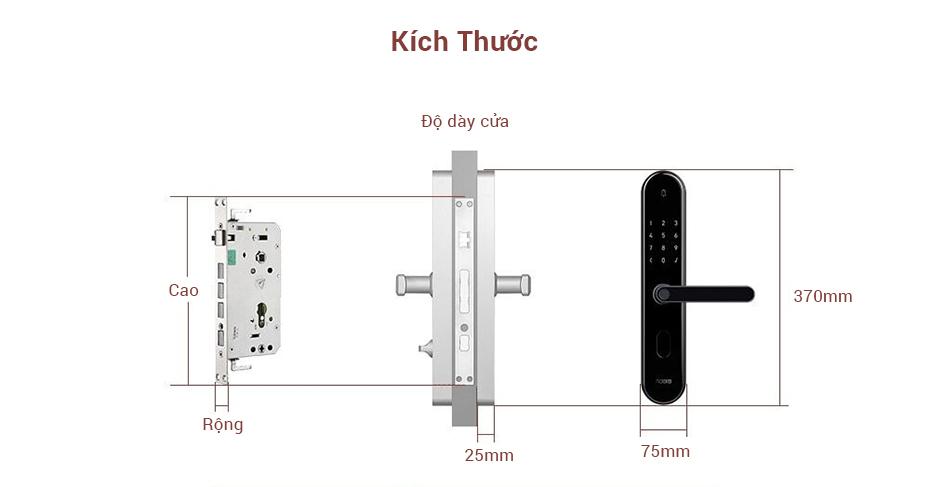 Khoá Cửa Thông Minh Xiaomi Aqara S2 23