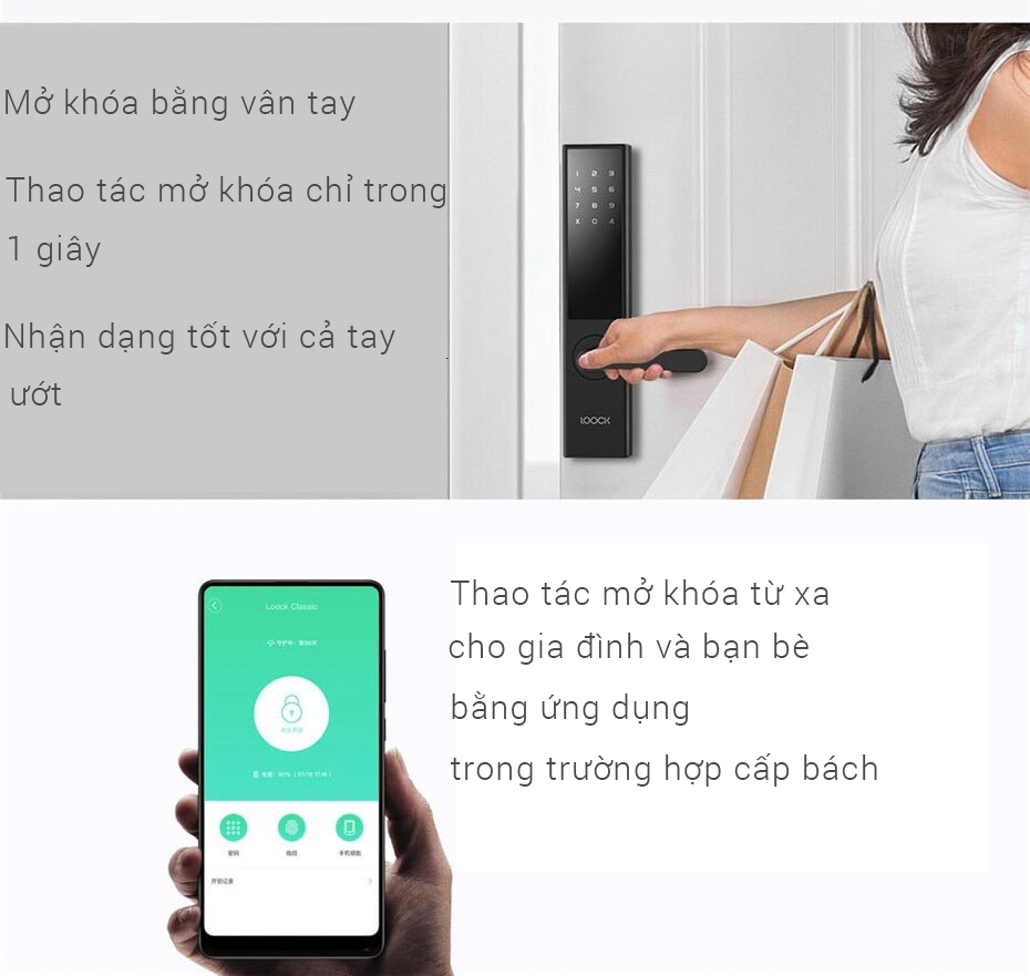 Information about the Xiaomi LOOCK Classic Smart Door Lock product