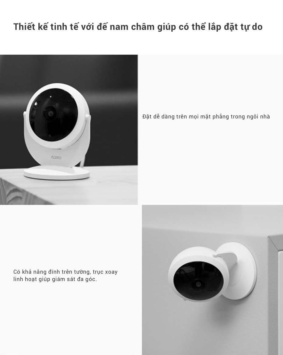 Camera Thông Minh IP Aqara 1080P với lens mắt cá góc rộng 180° (phiên bản Gateway) 18