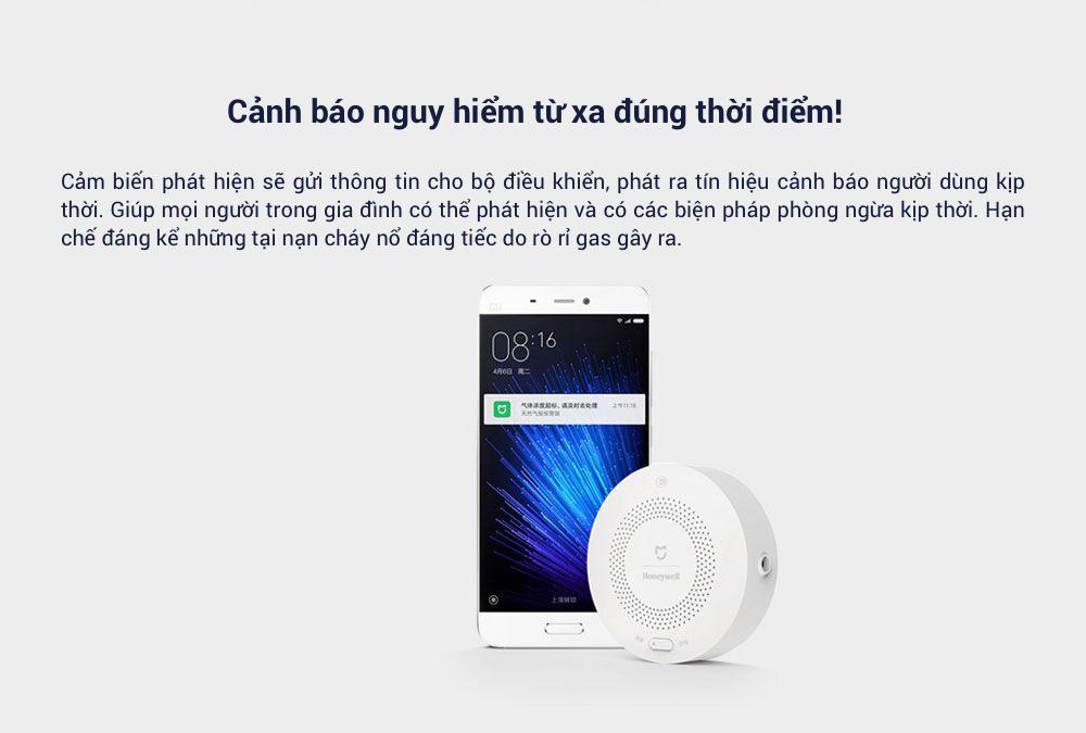 Cảm biến cảnh báo khí gas Xiaomi honeywell (dùng chung bộ Homekit) 9