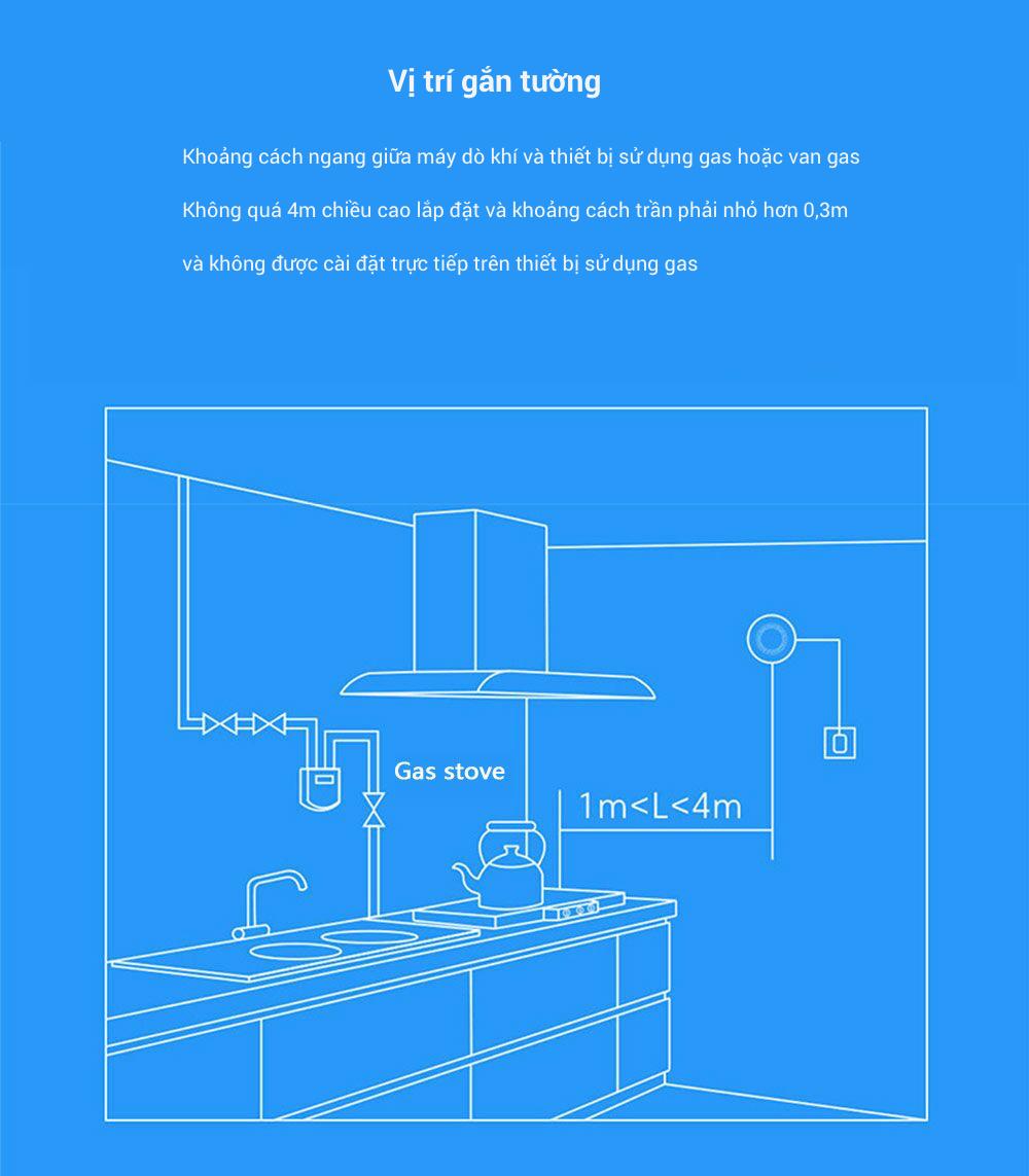Cảm biến cảnh báo khí gas Xiaomi honeywell (dùng chung bộ Homekit) 14