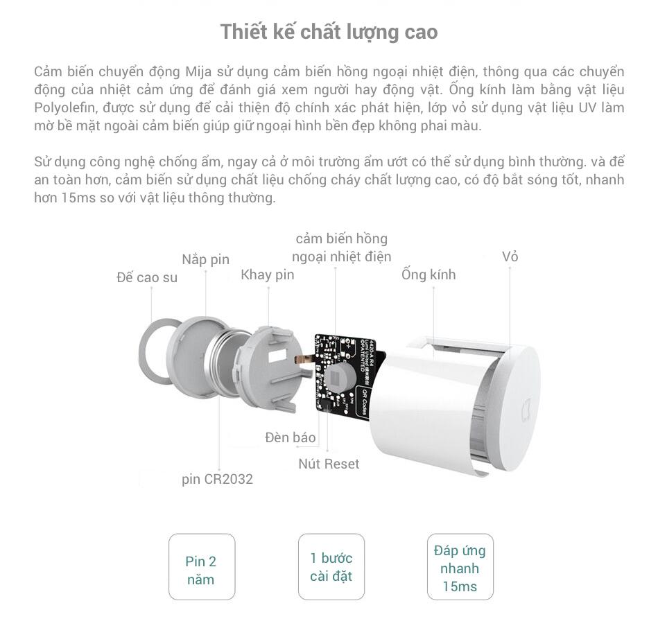 Chất lượng Cảm Biến Nhiệt Chuyển Động Xiaomi Mijia thế nào