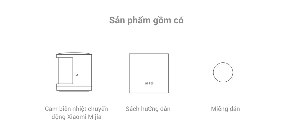 Instructions on how to install the Xiaomi Mijia Motion Sensor and what the kit includes