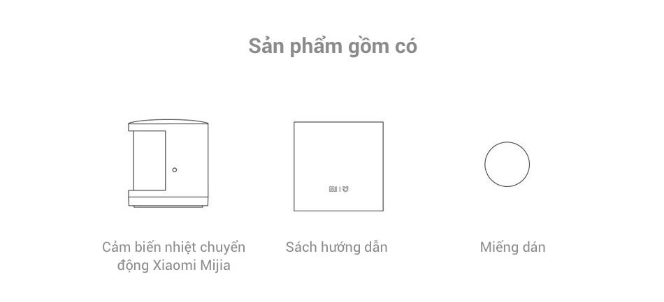 Hướng dẫn cách cài đặt Cảm Biến Nhiệt Chuyển Động Xiaomi Mijia và bộ sản phẩm gồm có gì