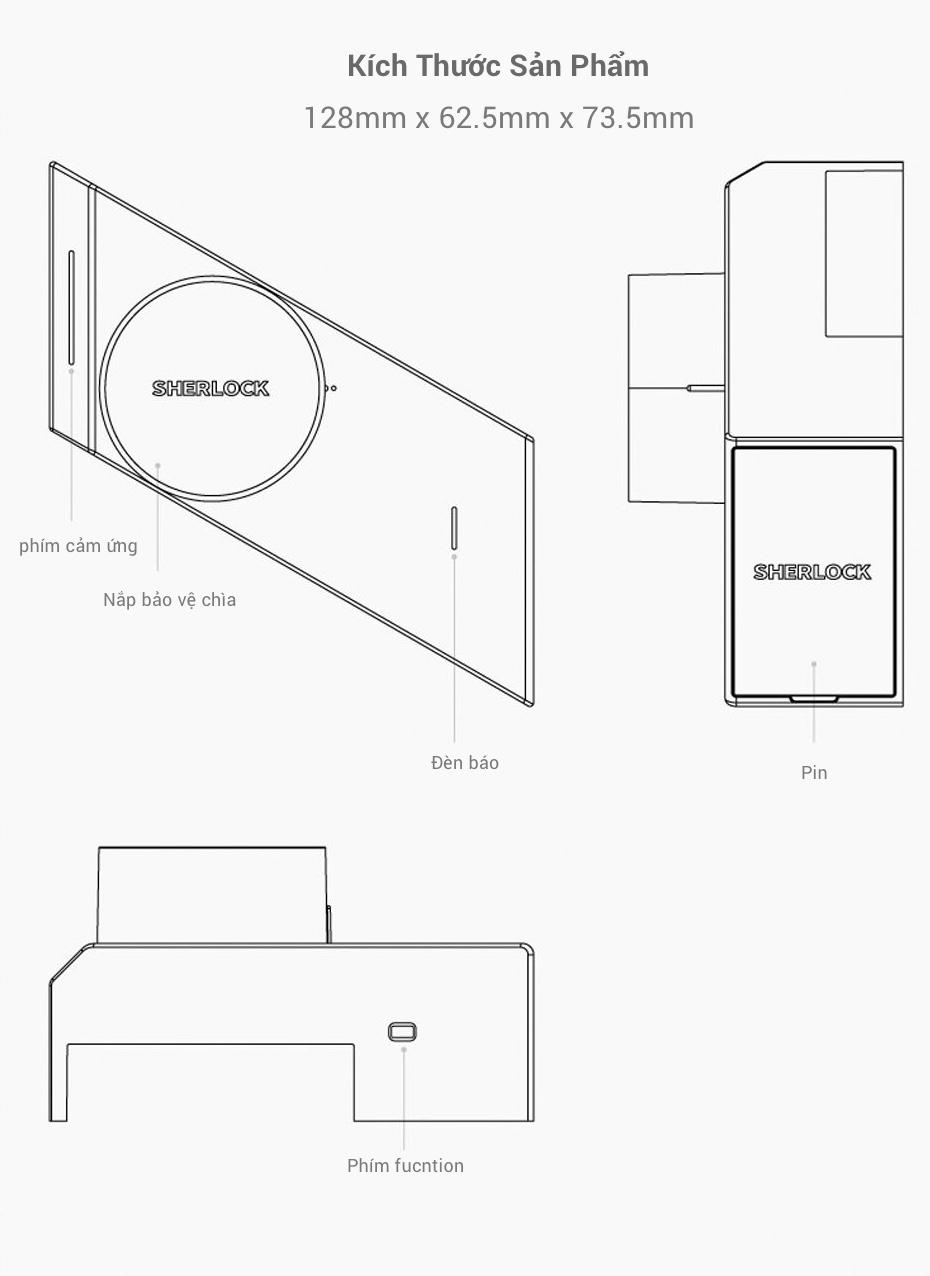 Khoá Cửa Thông Minh Xiaomi Mijia Sherlock M1 25