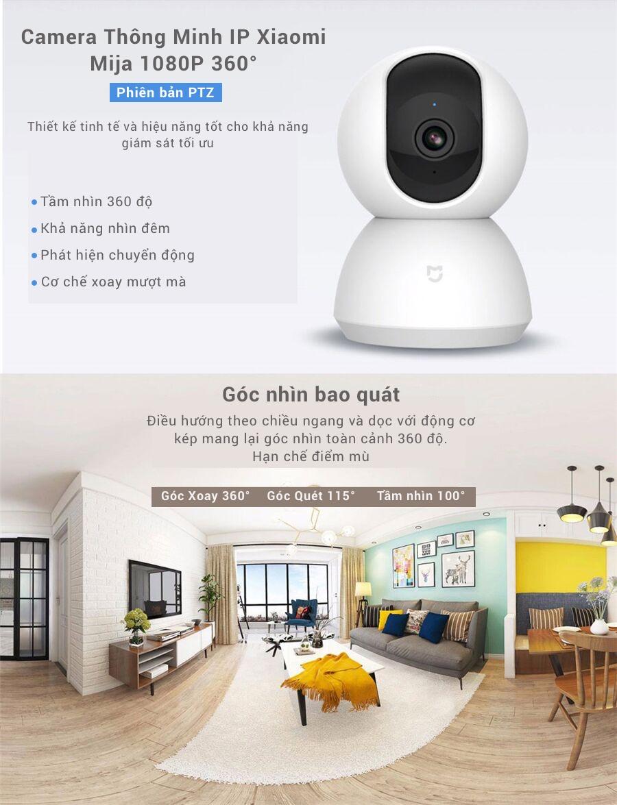 Camera WiFi IP Xiaomi Mijia Smart 1080P 360° (Phiên bản PTZ) 9