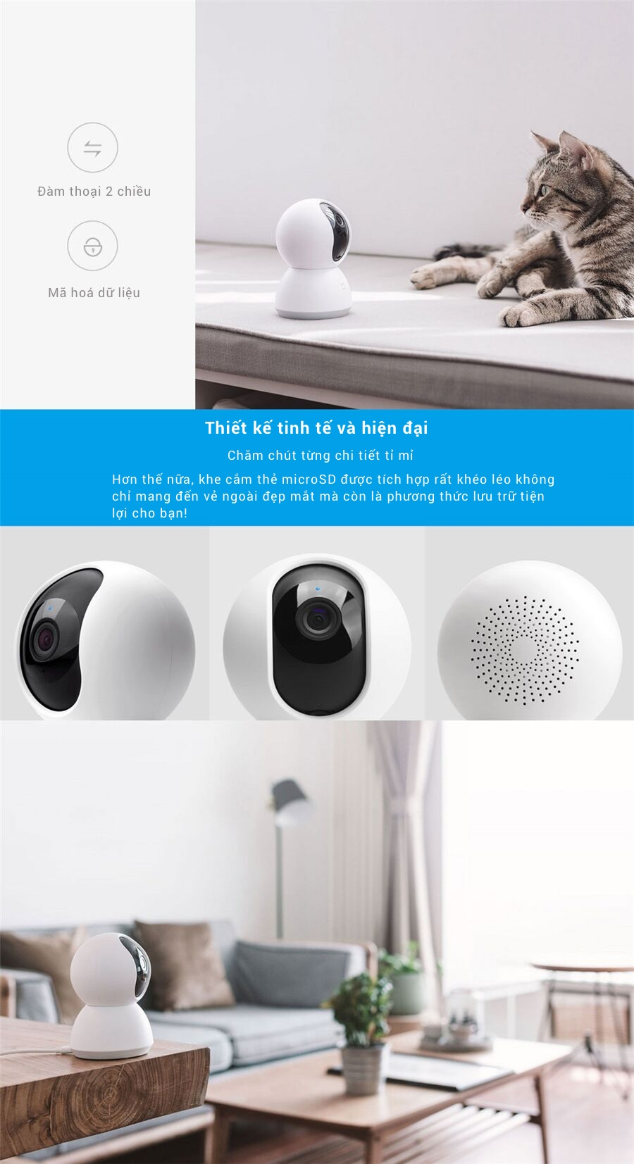 Xiaomi IP Camera Mijia Smart 1080P 360 WiFi Camera