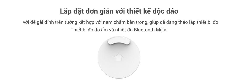 Nhiệt kế và ẩm kế kỹ thuật số Xiaomi Mijia có kết nối Bluetooth và hiển thị LCD 16