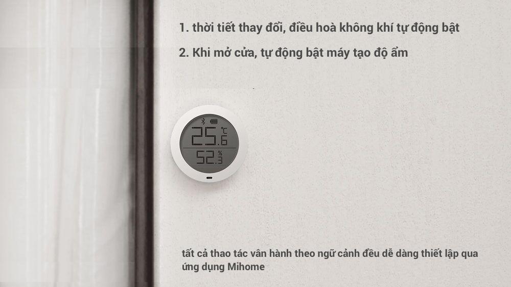 Nơi bán Nhiệt kế và ẩm kế kỹ thuật số Xiaomi Mijia có kết nối Bluetooth và hiển thị LCD chính hãng