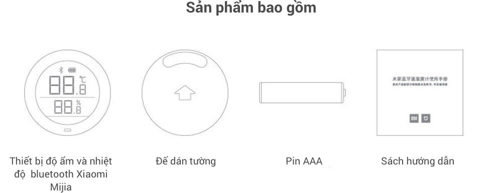 Nhiệt kế và ẩm kế kỹ thuật số Xiaomi Mijia có kết nối Bluetooth và hiển thị LCD 21