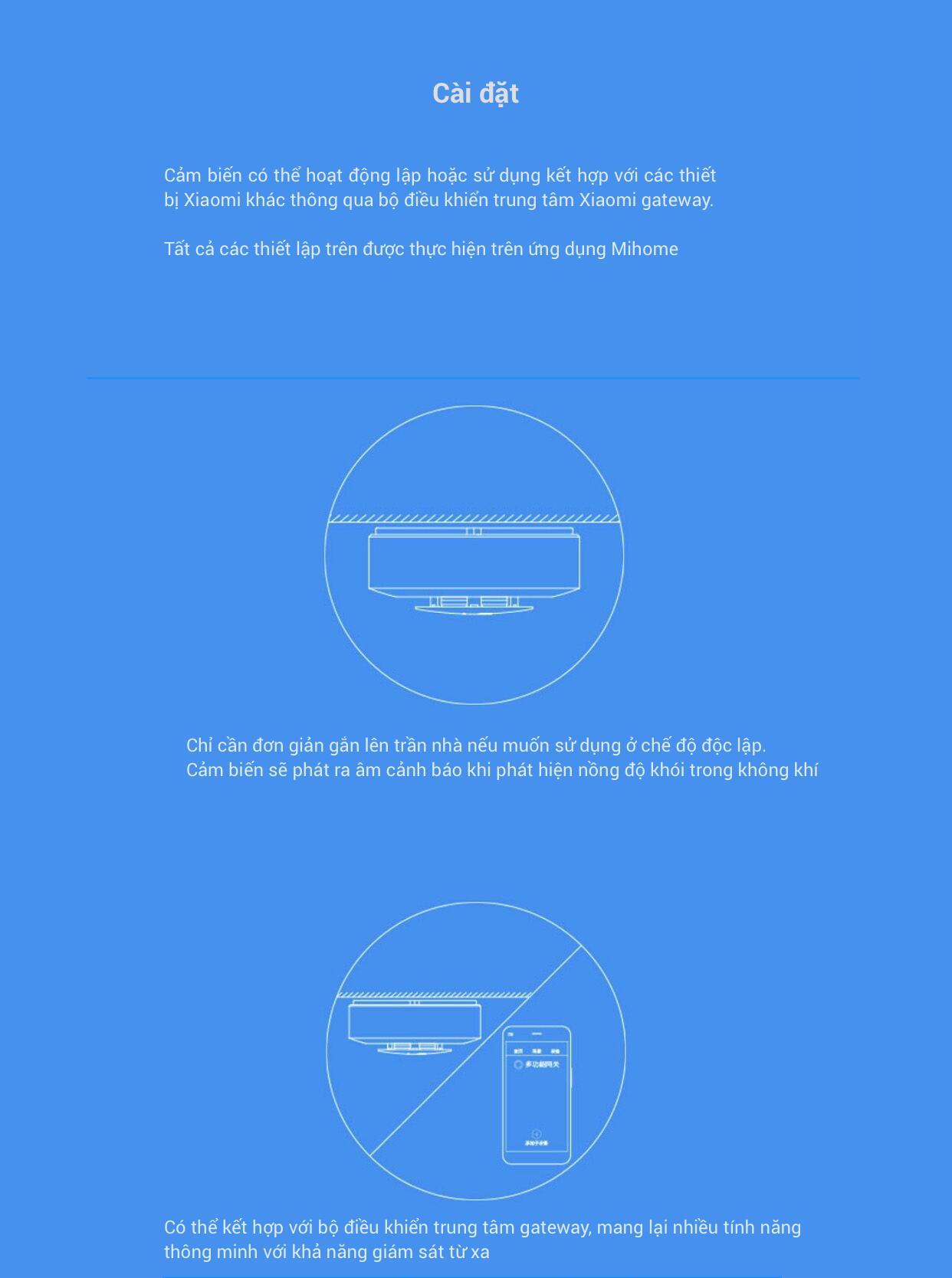 Cảm biến phát hiện khói và báo cháy thông minh Xiaomi Honeywell 10