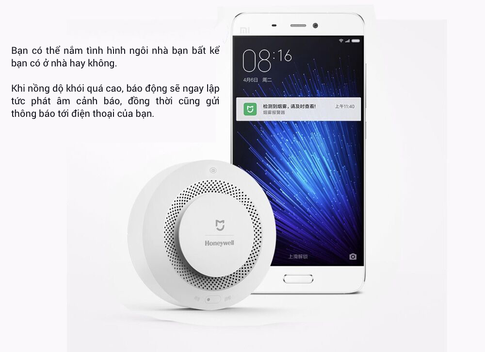 Store selling Xiaomi Honeywell Smoke Detector and Smart Fire Detector in HCM