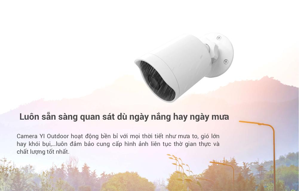 Camera IP Giám Sát Ngoài Trời YI Outdoor Edition 1080p
