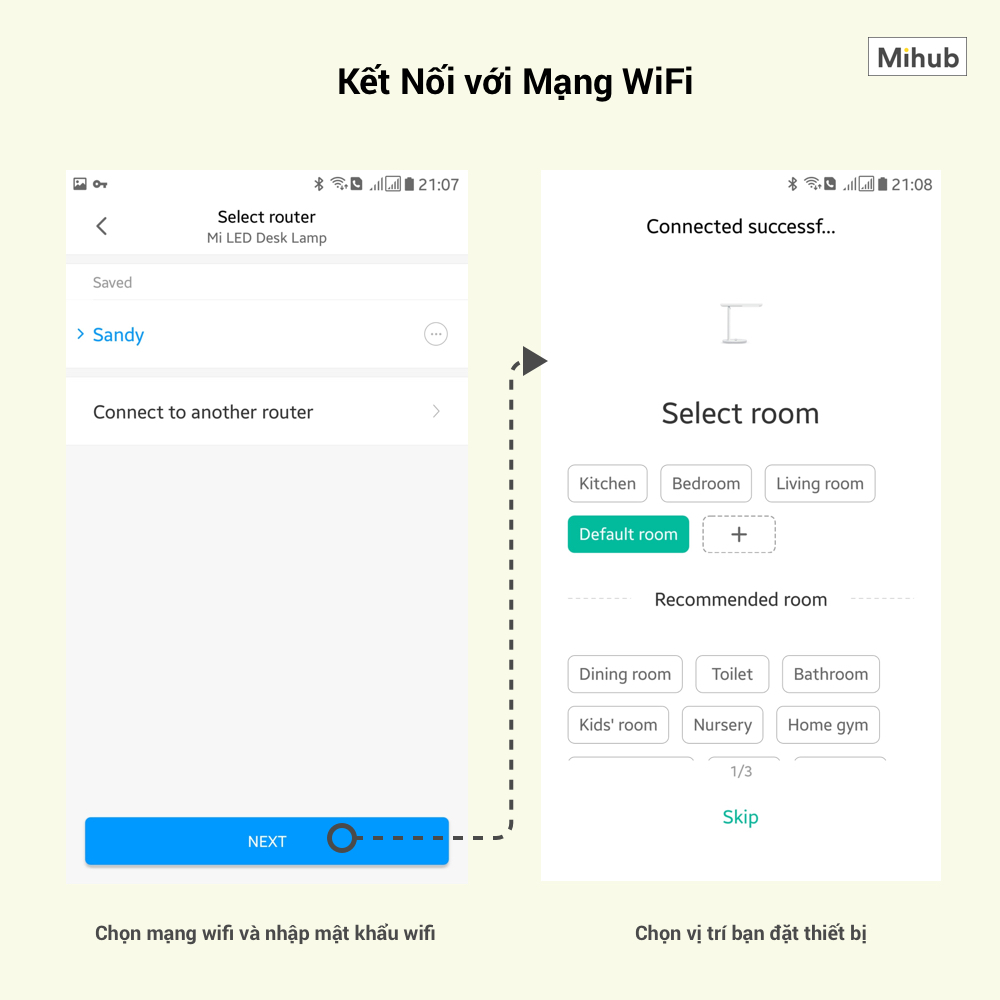 Connect xiaomi smart devices to the mi home app