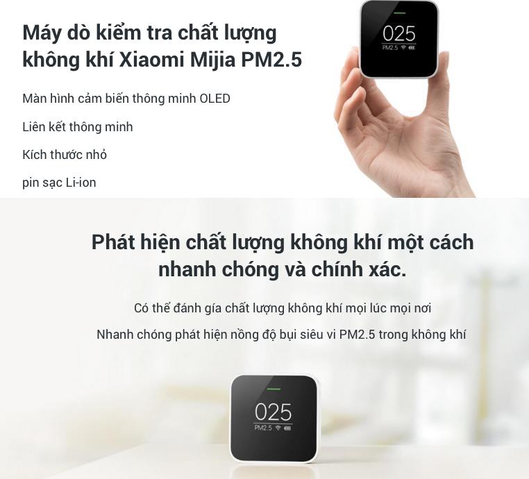 Máy Dò Kiểm Tra Chất Lượng Không Khí Xiaomi Mijia PM2.5