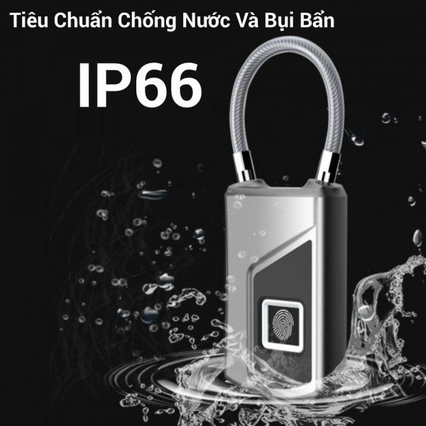 Ổ Khóa Vân Tay Chống Nước IP66 Anytek L1 5