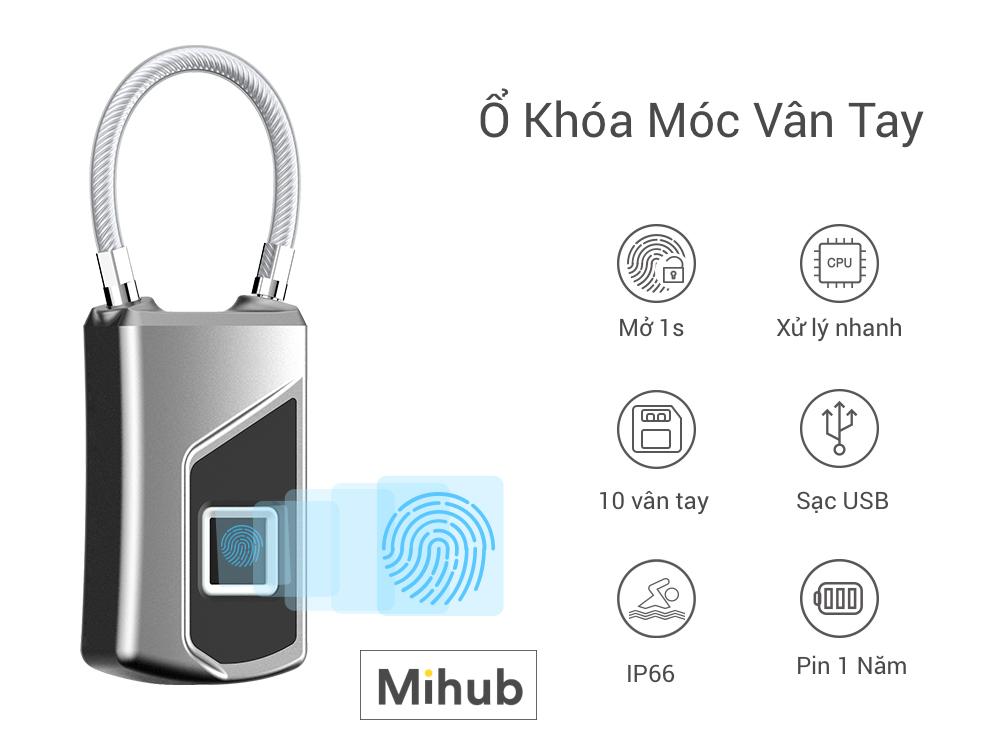 Waterproof Fingerprint Lock IP66 Anytek L1 genuine stock tphcm