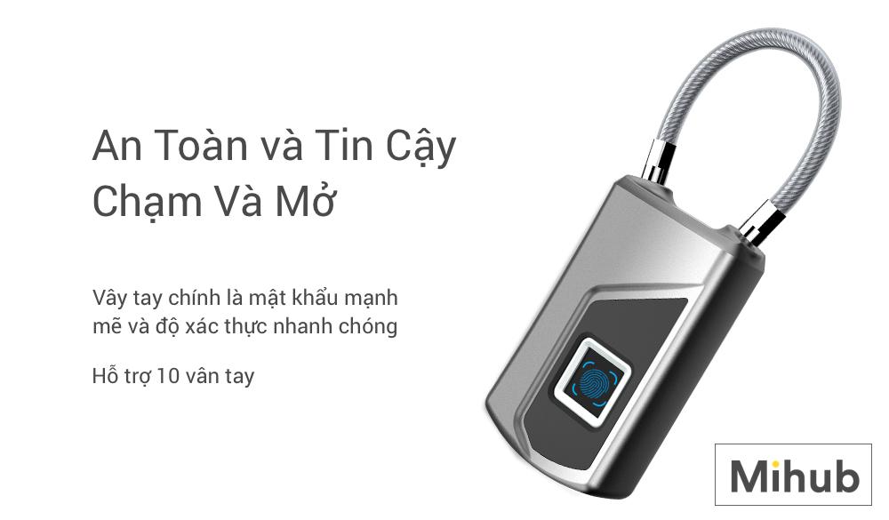 Ổ Khóa Vân Tay Chống Nước IP66 Anytek L1 (Phiên Bản App) 16