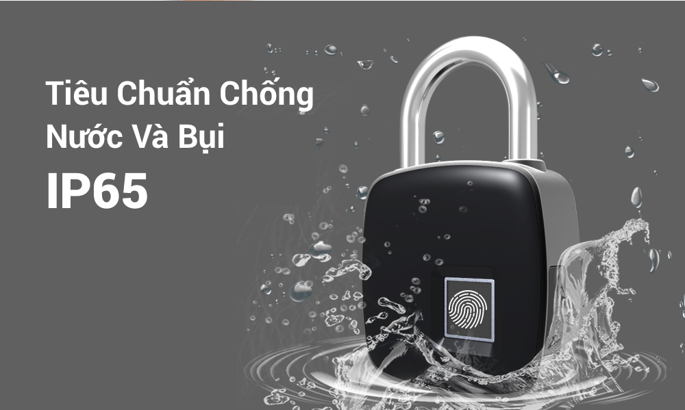 Address for selling the most prestigious Anytek P3 Waterproof Fingerprint lock in Ho Chi Minh City