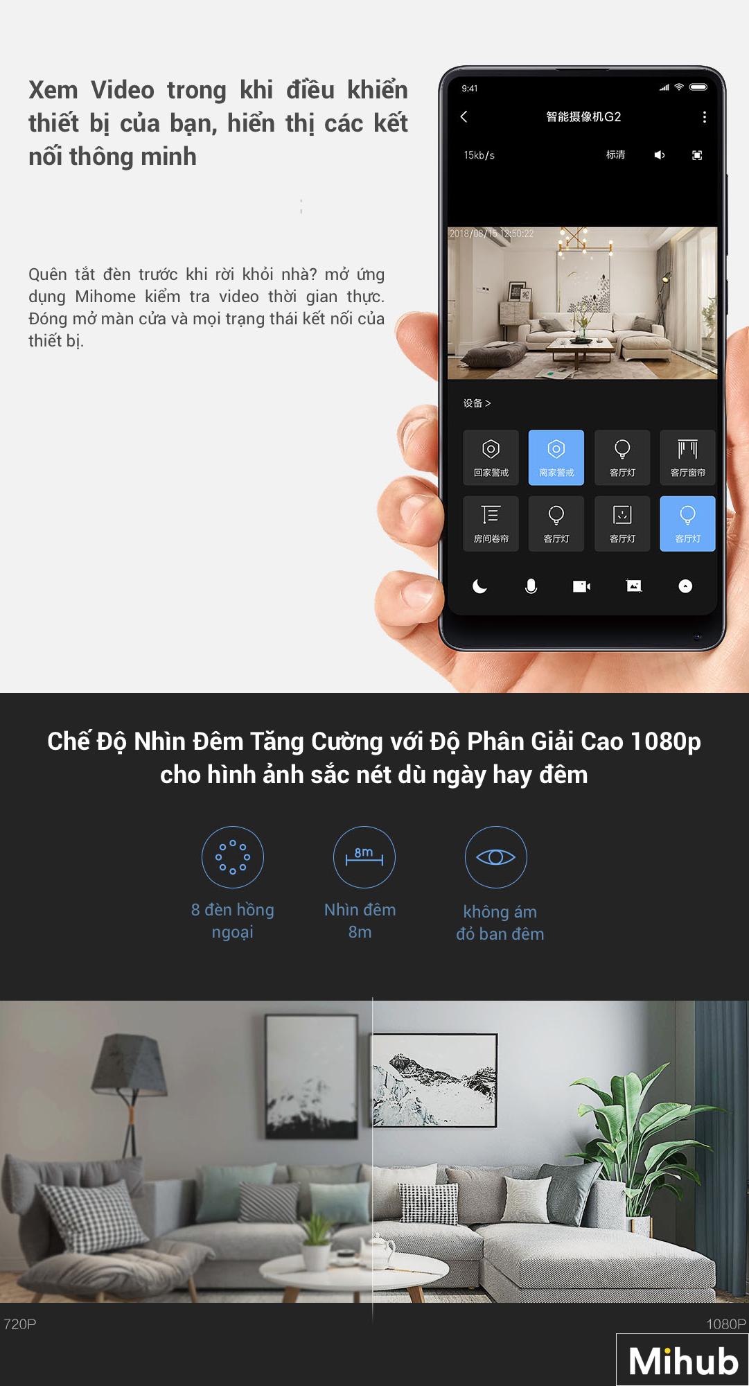 Camera Thông Minh IP Aqara G2 1080p (Phiên Bản Gateway) 12