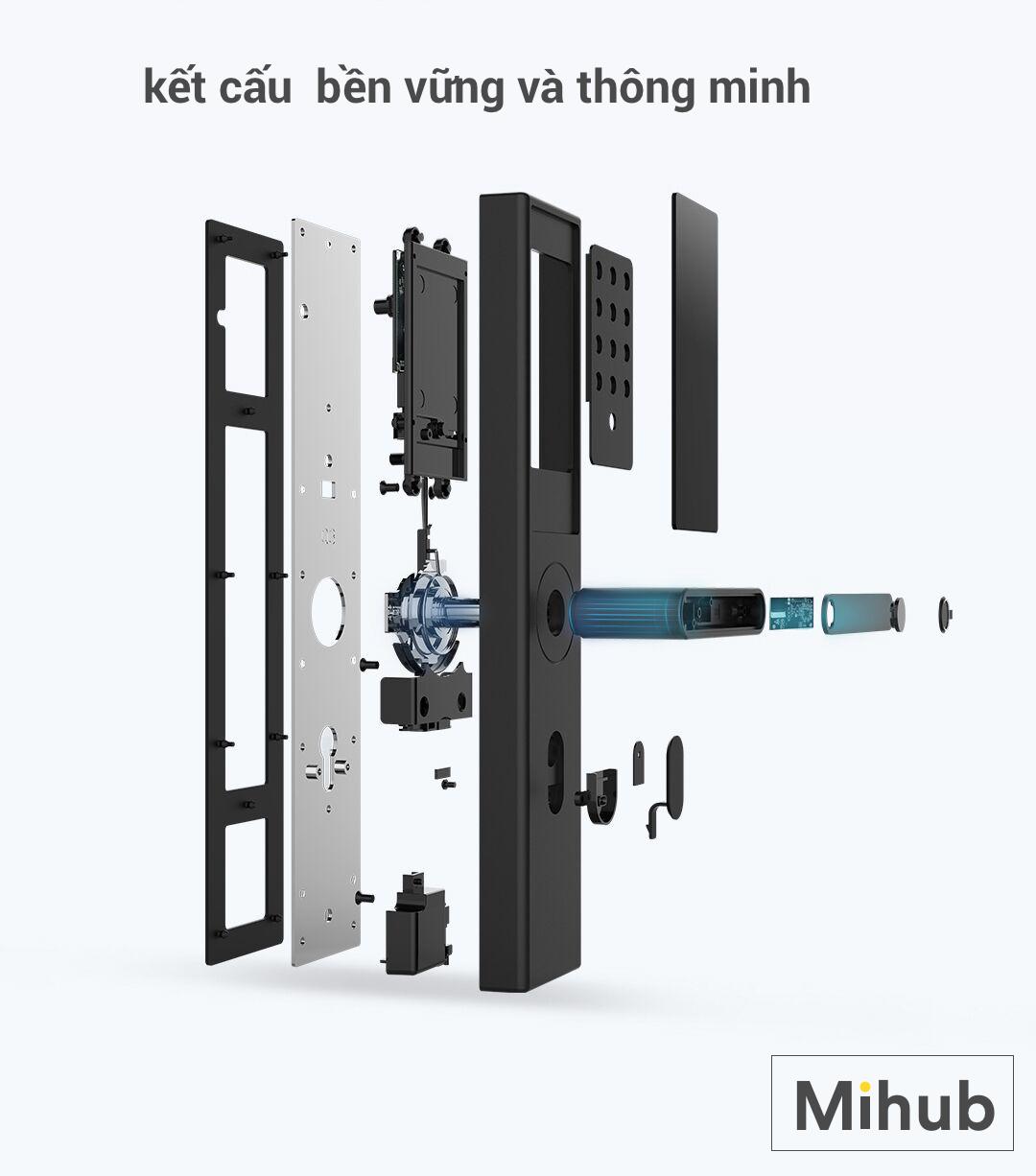 Address specializing in selling smart door locks Xiaomi Youpin OJJ X1 genuine Saigon city