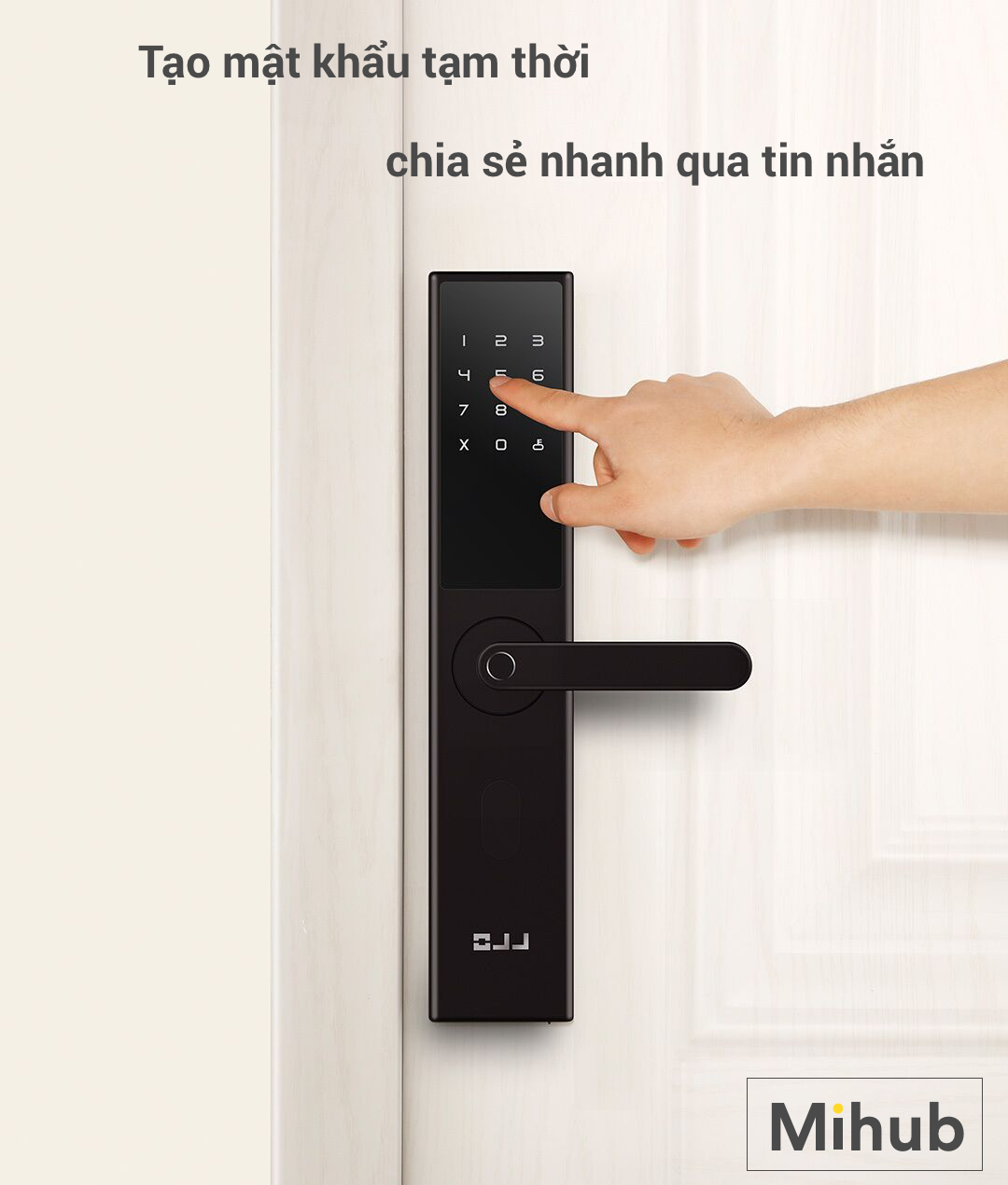 The service provides and sells Xiaomi Youpin OJJ X1 smart door locks products in Ho Chi Minh City