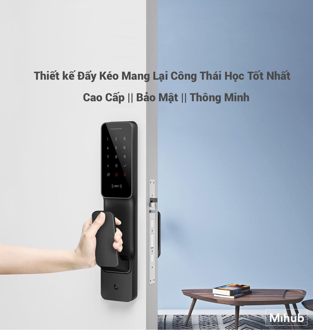 Review Khóa Cửa Thông Minh Cao Cấp Mi Smart Door Phiên Bản Push and Pull