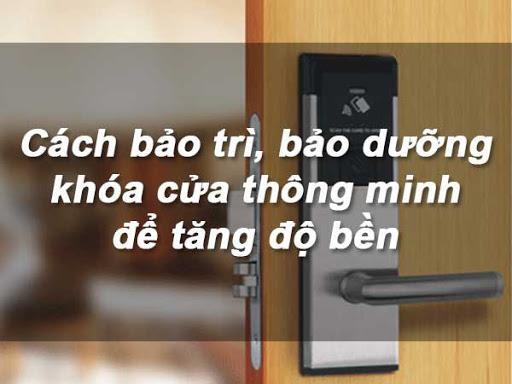 cách bảo dưỡng khóa cửa thông minh tốt nhất