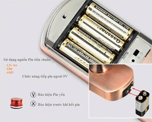 khóa cửa thông minh hết pin cần làm gì
